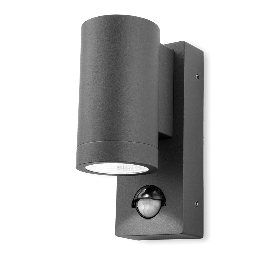 Widely Used Sconce Outdoor Wall Lighting Inside Firstlight 'shelby' Ip65 Led 1 Light Outdoor Up & Down Pir Sensor (View 17 of 20)
