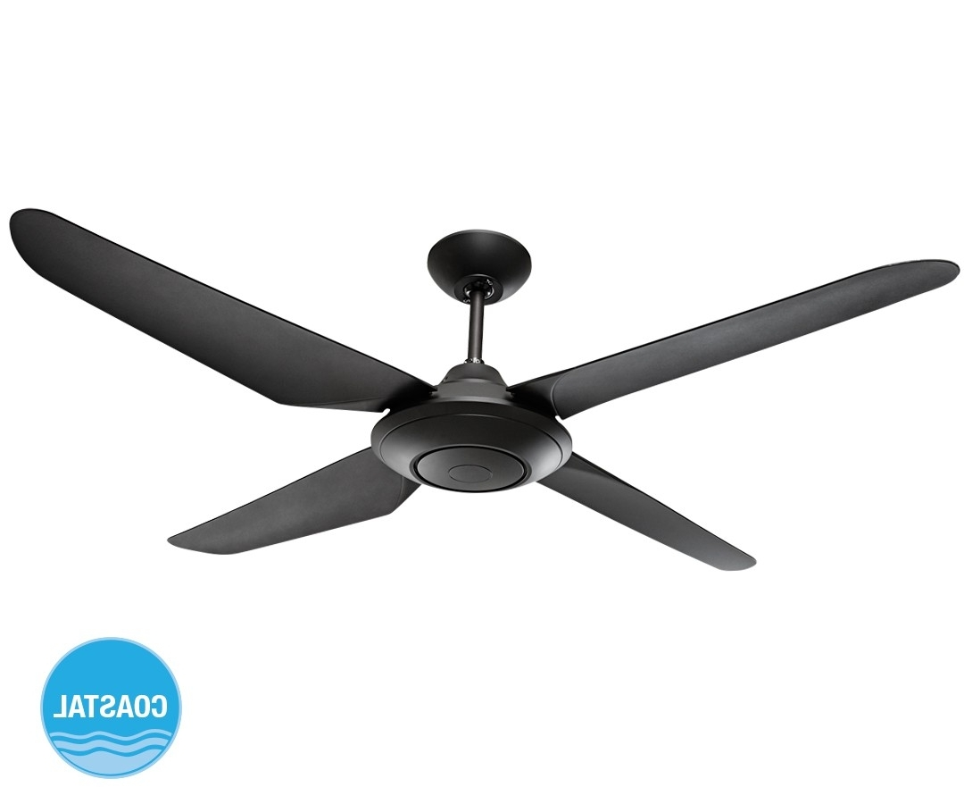 Widely Used Sensation 137Cm Fan Only In Black With Regard To Outdoor Ceiling Fan Beacon Lighting (View 20 of 20)