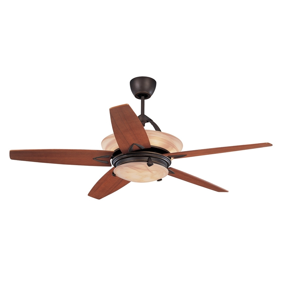 Widely Used Shop Monte Carlo Fan Company Arch 60 In Roman Bronze Indoor Downrod With Regard To Outdoor Ceiling Fan Lights With Remote Control (View 20 of 20)