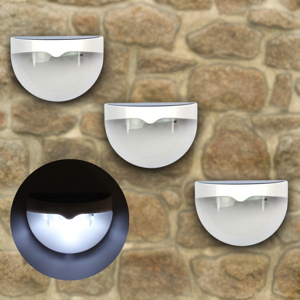 Widely Used Solar Led Outdoor Wall Lighting With Regard To 6 Led Solar Powered Outdoor Wall Light (View 2 of 20)