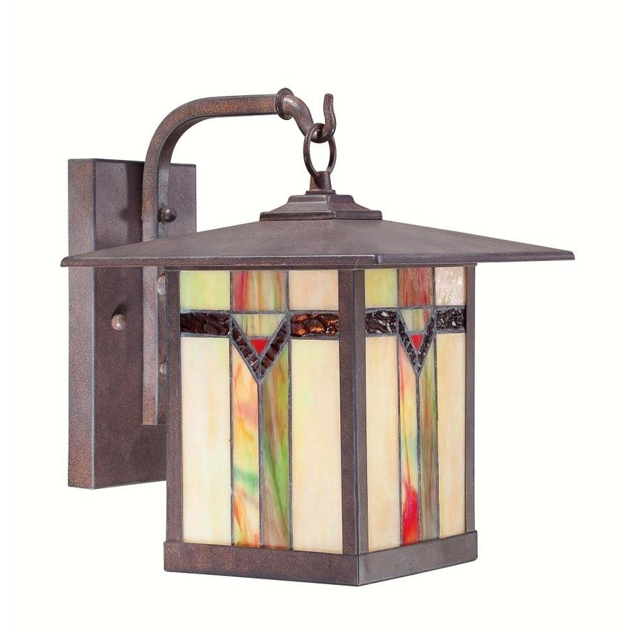 Widely Used Stained Glass Outdoor Wall Lights Inside Shop Outdoor Wall Lights At Lowes (View 19 of 20)
