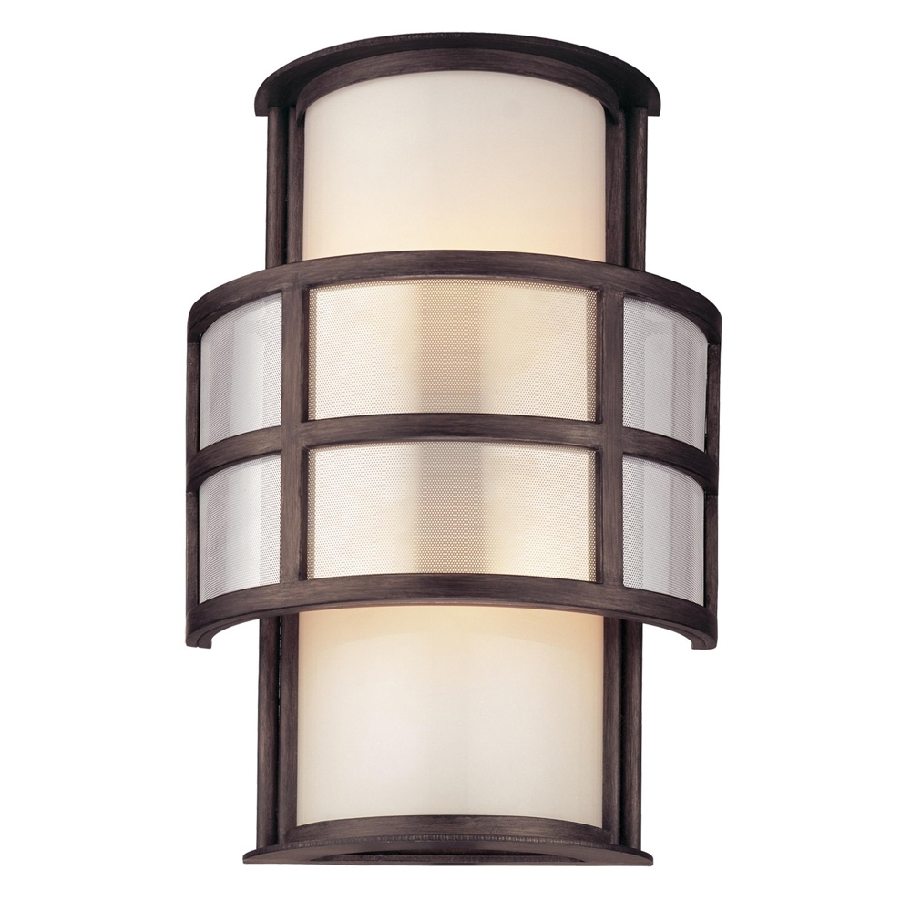 Widely Used Troy Lighting Outdoor Wall Sconces Throughout Buy The Discus Exterior 2 Light Wall Sconce – Small (View 13 of 20)