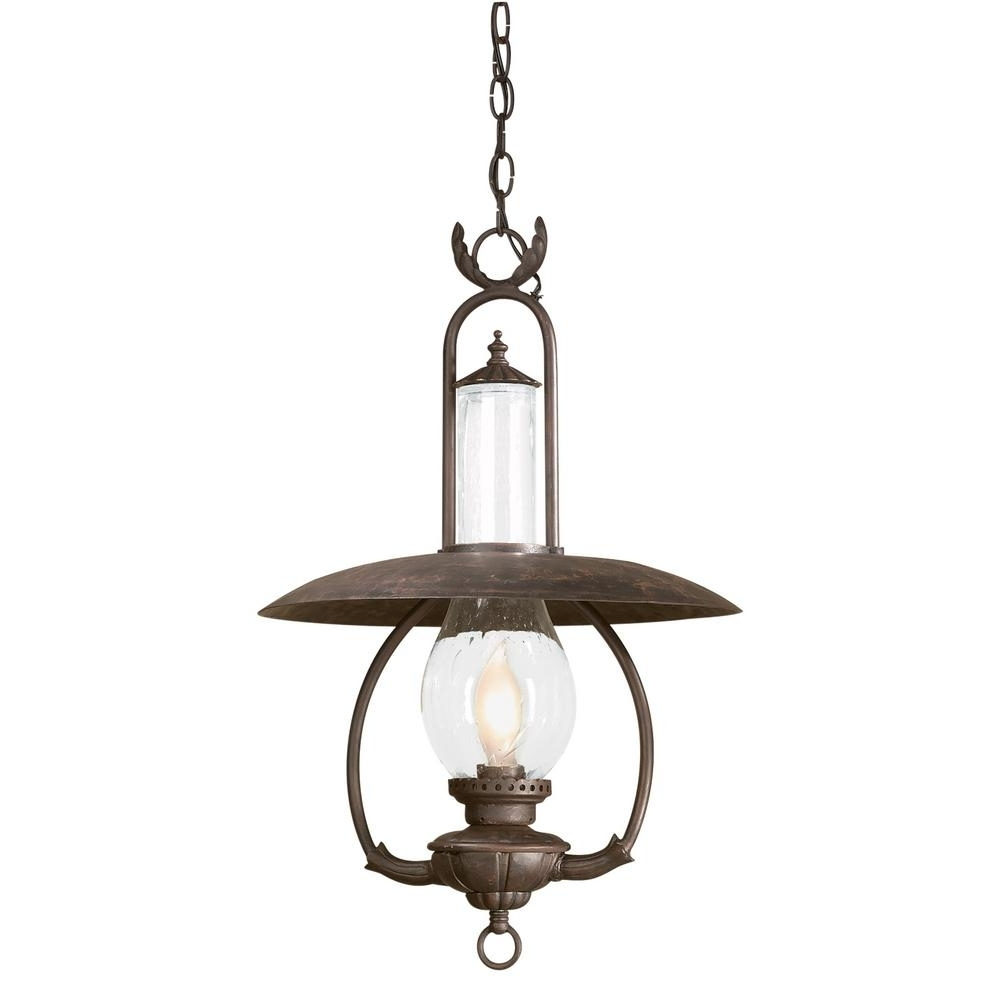 Widely Used Troy Outdoor Hanging Lights Regarding Troy Lighting La Grange 1 Light Old Bronze Outdoor Pendant (View 20 of 20)