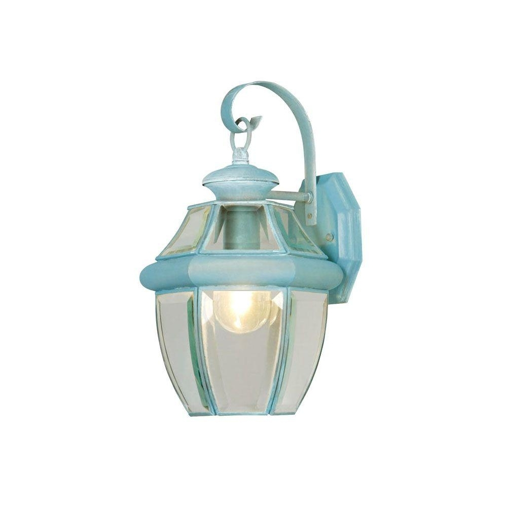 Widely Used Verdigris Outdoor Wall Lighting Within Livex Lighting 1 Light Verdigris Outdoor Wall Lantern With Clear (View 20 of 20)