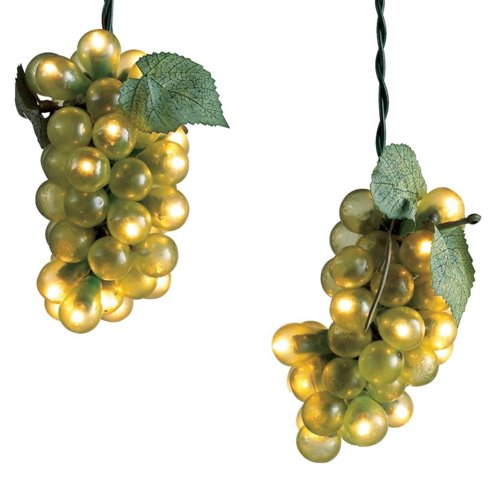 Wine Grape Lights – The Green Head Inside Most Current Outdoor Hanging Grape Lights (View 6 of 20)