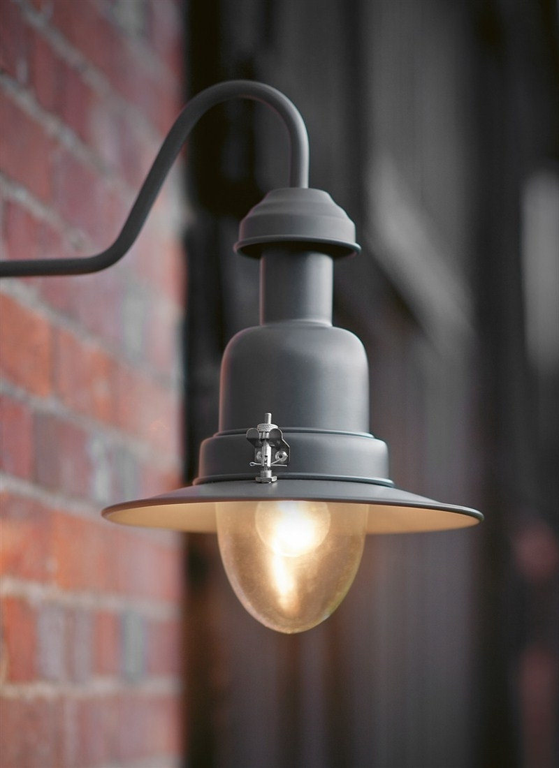 Wonderful Outdoor Wall Mounted Lighting Large Outdoor Wall Lights Intended For Well Known Grey Outdoor Wall Lights (View 9 of 20)