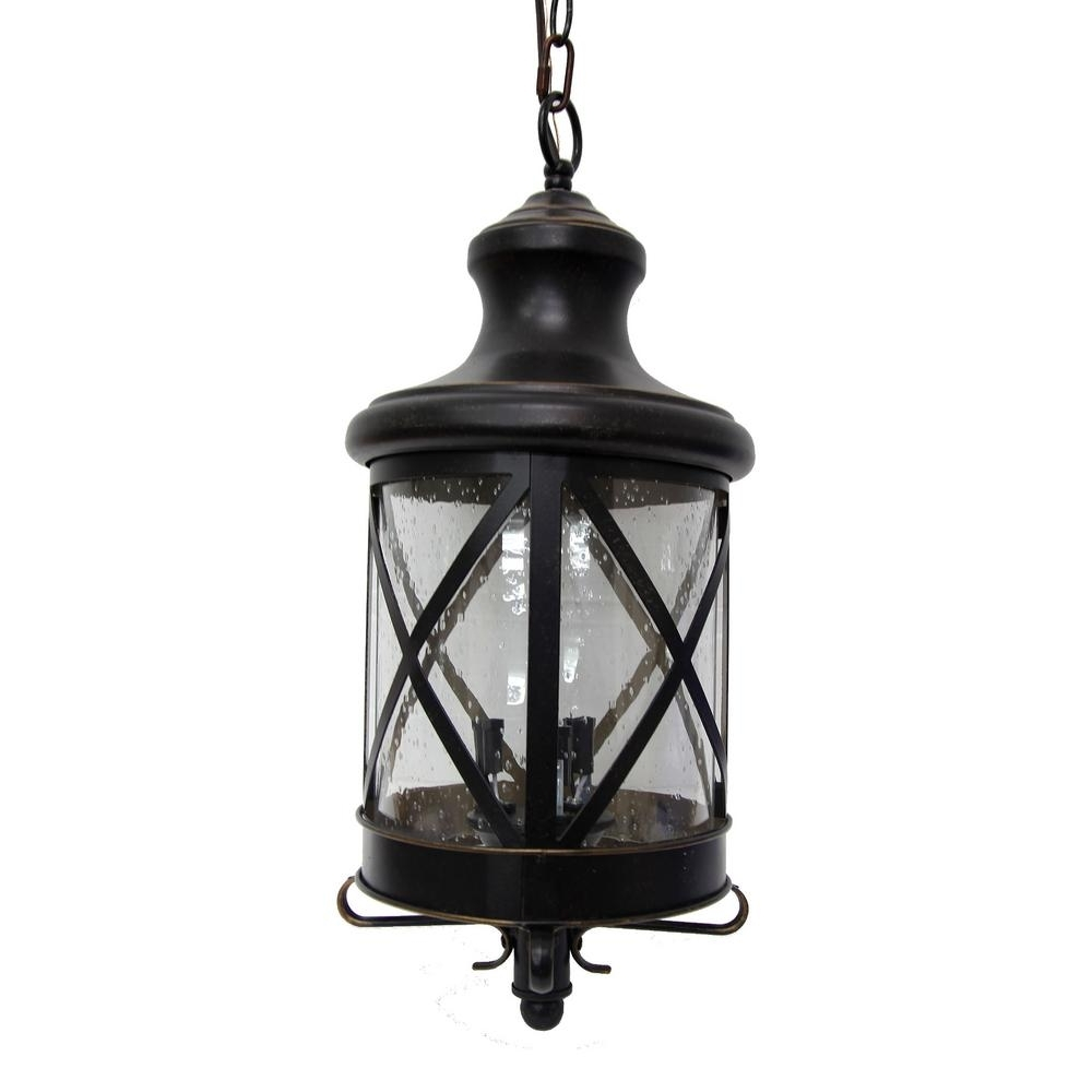 Y Decor Taysom 3 Light Oil Rubbed Bronze Outdoor Hanging Lantern In Newest Outdoor Hanging Lanterns For Candles (Gallery 2 of 20)