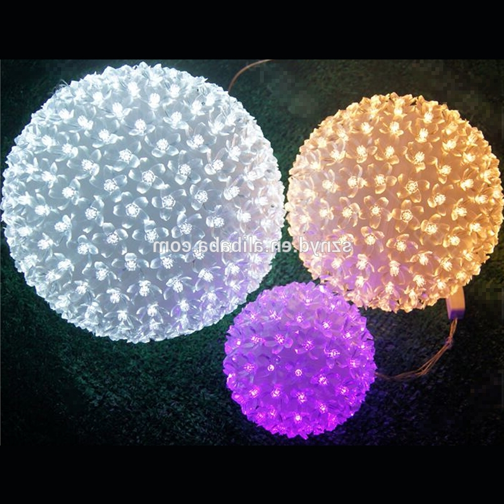 Yellow Christmas Ornament Balls Outdoor Hanging Light Balls Large For Well Known Outdoor Hanging Christmas Light Balls (Gallery 6 of 20)
