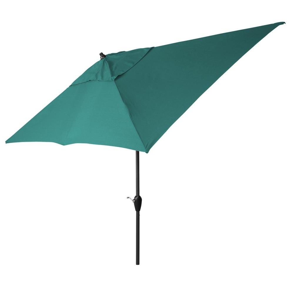 10 Ft. Aluminum Tilt Patio Umbrella In Sunbrella Spectrum Peacock With Fashionable Striped Sunbrella Patio Umbrellas (Gallery 15 of 20)