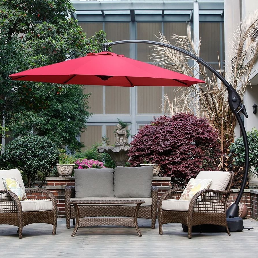 11 Best Large Cantilever Patio Umbrellas With Ideal Shade Coverage With Regard To Favorite Oversized Patio Umbrellas (Gallery 17 of 20)