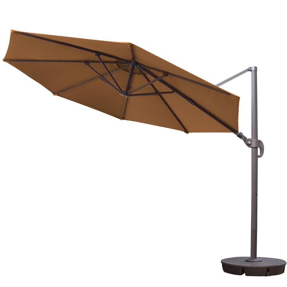 11 Ft Patio Umbrellas Throughout Most Popular Island Umbrella Freeport 11 Ft. Octagon Cantilever Patio Umbrella In (Gallery 5 of 20)