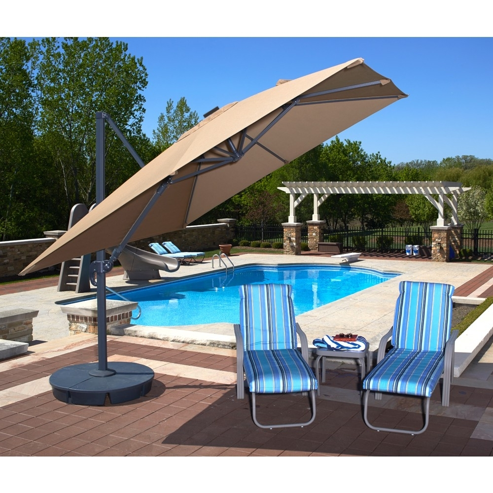 11 Ft. Sunbrella Patio Umbrellas With Regard To Most Current Breathtaking Round Stool For Patio Furniture Ideas Ikea Patio (Gallery 19 of 20)