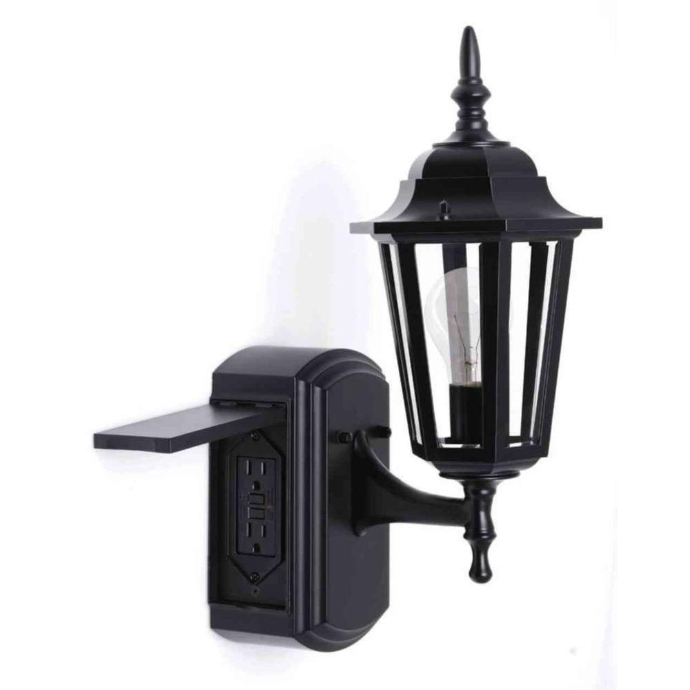 20 Inspirations Of Outdoor Wall Lights With Receptacle Pertaining To Favorite Plug In Outdoor Lanterns (View 1 of 20)