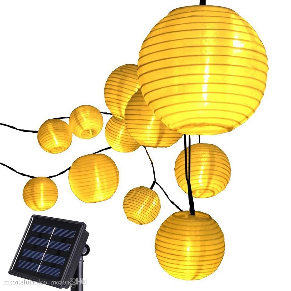 20 Led Lantern Solar Powered String Indoor Or Outdoor Lights Inside Latest Yellow Outdoor Lanterns (Gallery 6 of 20)