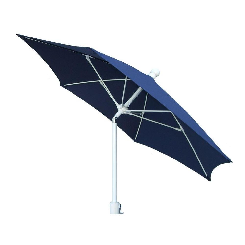 2018 Blue Patio Umbrellas With Fiberbuilt Umbrellas 9 Ft. Patio Umbrella In Navy Blue 9Hcrw T Nb (Gallery 17 of 20)
