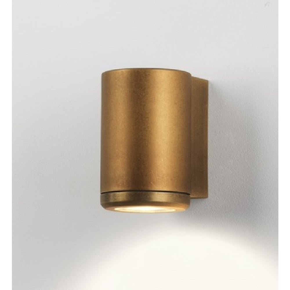 2018 Brass Outdoor Lanterns Inside Tube Shape Outdoor Wall Spotlight, Solid Brass For Esposed Coastal Sites (Gallery 10 of 20)