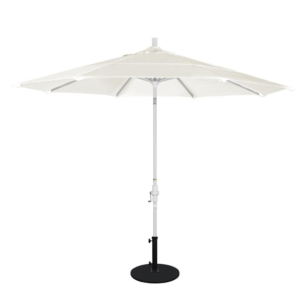 2018 California Umbrella 11 Ft. Aluminum Collar Tilt Double Vented Patio Pertaining To Vented Patio Umbrellas (Gallery 12 of 20)