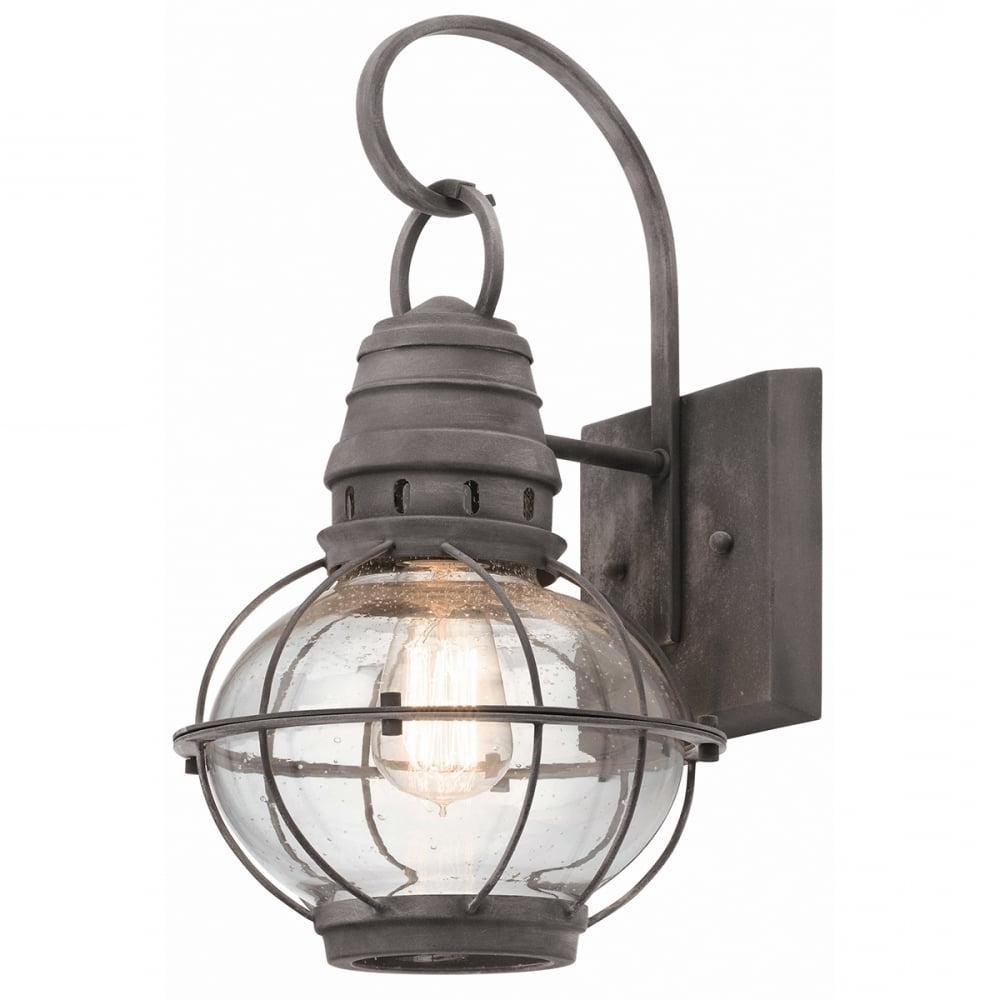 2018 Classic Style Exterior Wall Lantern In Weathered Zinc Regarding Zinc Outdoor Lanterns (View 8 of 20)