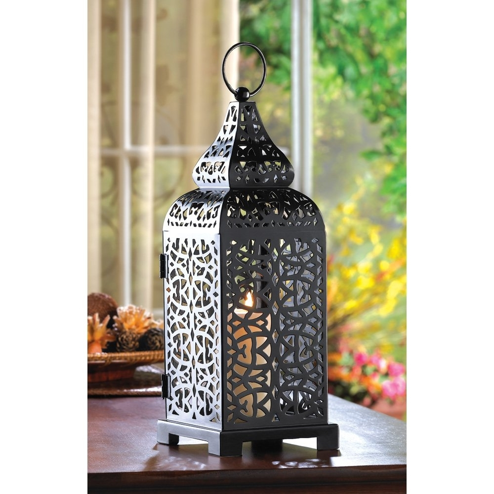 2018 Decorative Outdoor Lanterns, Hanging Moroccan Table Lantern – Temple Intended For Outdoor Lanterns For Tables (View 1 of 20)