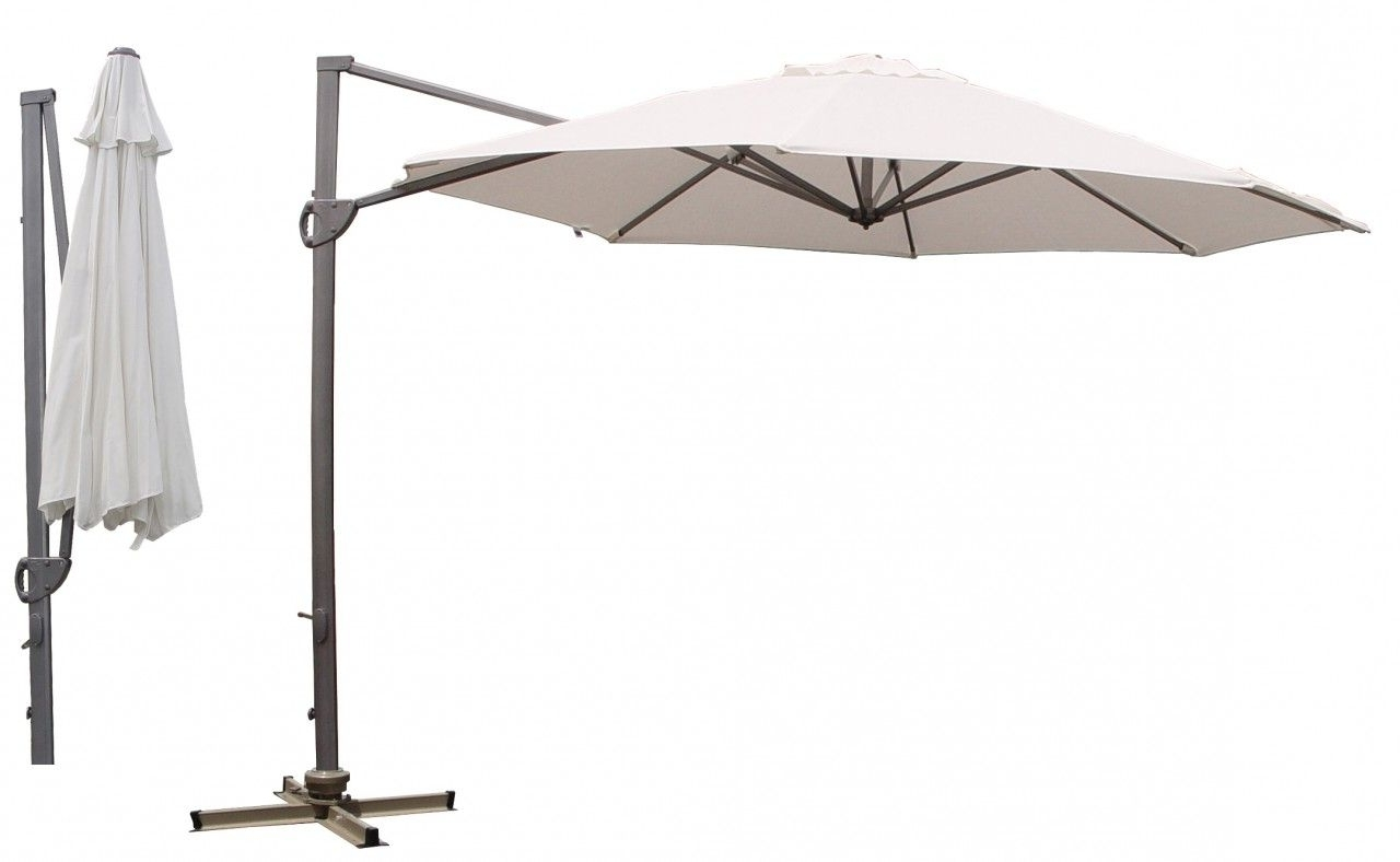 2018 Grey Patio Umbrellas Inside Charming Cantilever Patio Umbrella For Patio Furniture Ideas (View 13 of 20)