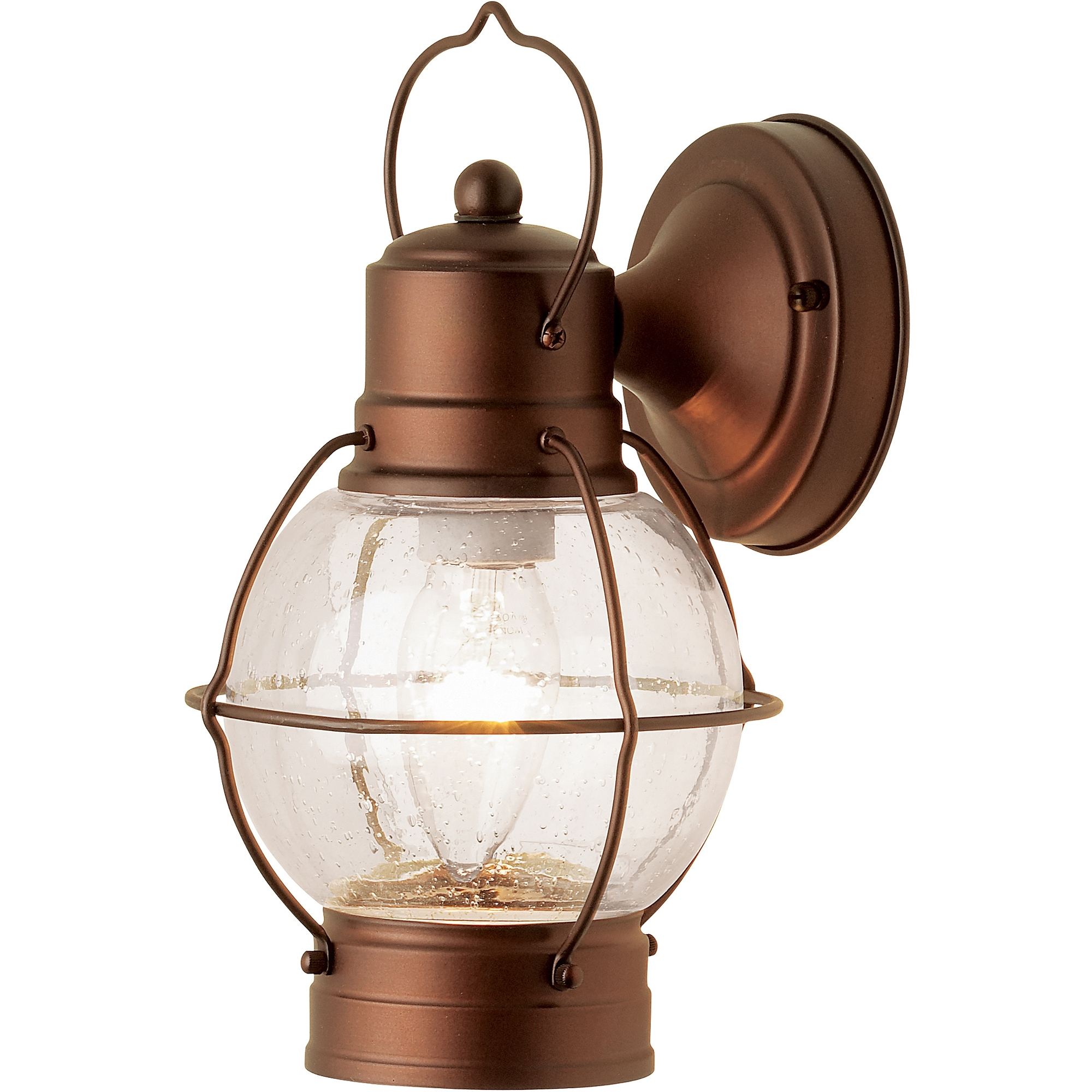 2018 Hampton Rustico Lantern, Outdoor Lighting, Aged Bronze – Walmart With Regard To Outdoor Lighting Onion Lanterns (View 1 of 20)
