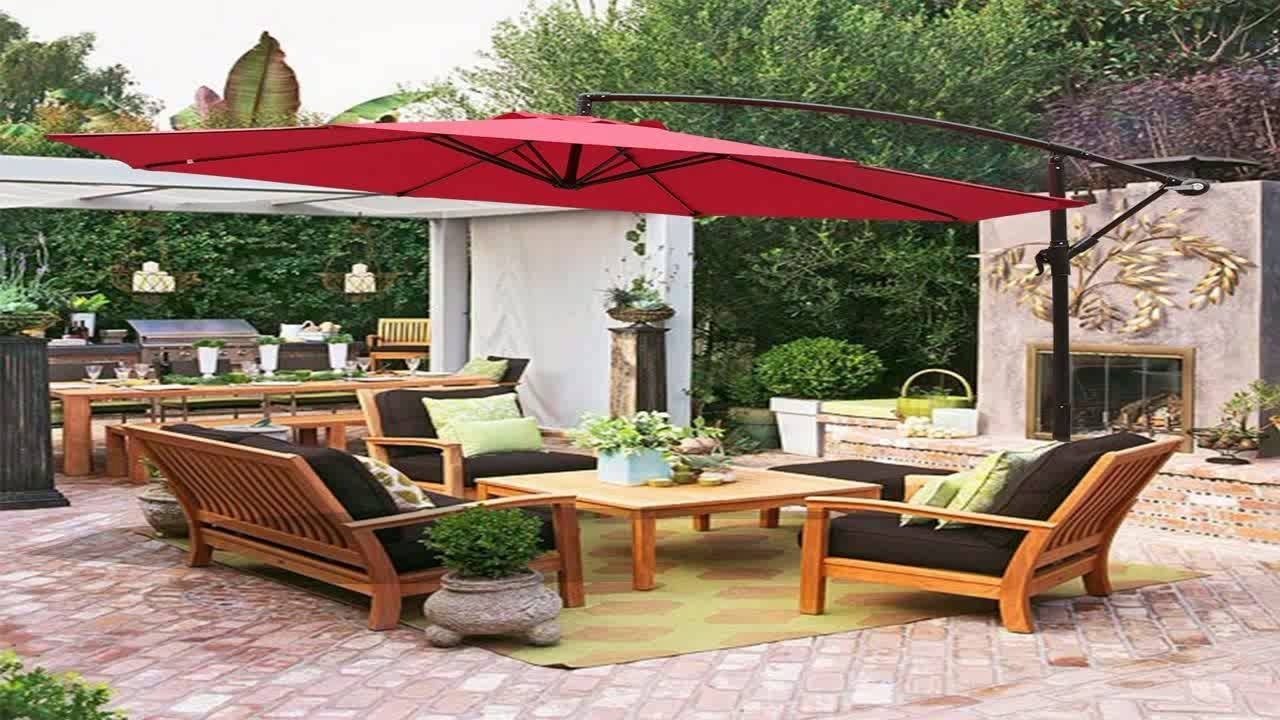 2018 Hanging Offset Patio Umbrellas For Best Choice Products Patio Umbrella Offset 10 Hanging Umbrella (Gallery 2 of 20)