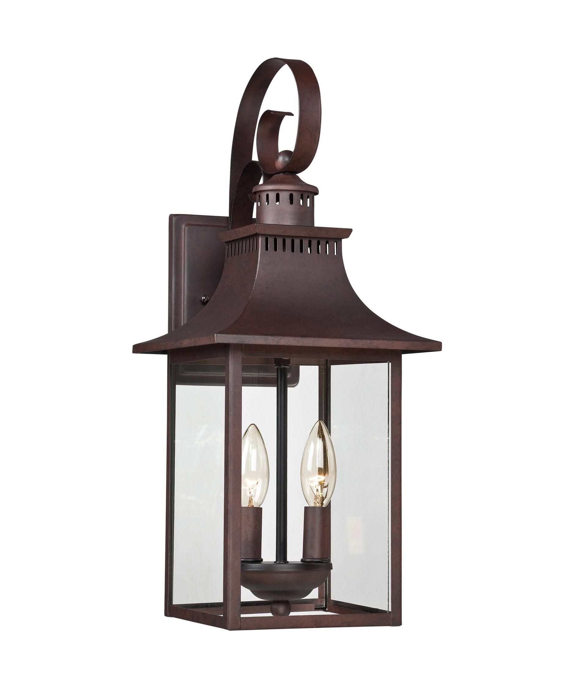 2018 Industrial Outdoor Lanterns Regarding Quoizel Ccr8408 Chancellor 8 Inch Wide 2 Light Outdoor Wall Light (View 6 of 20)