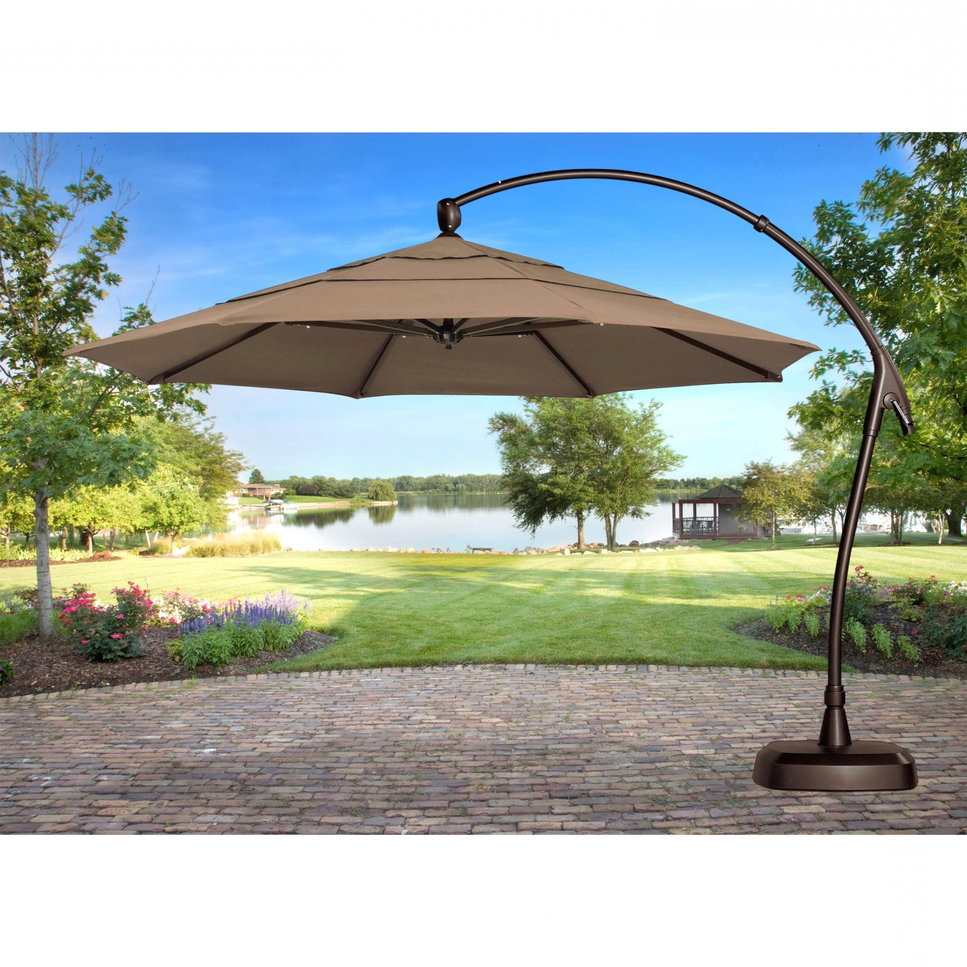2018 Interior Decor: Luxuriant Cantilever Patio Umbrella Teak Chairs With Regard To Sears Patio Umbrellas (View 1 of 20)