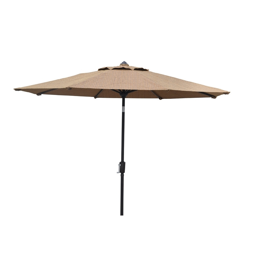 2018 Lowes Patio Umbrellas Inside Shop Allen + Roth Safford Safford Patio Umbrella At Lowes (Gallery 3 of 20)