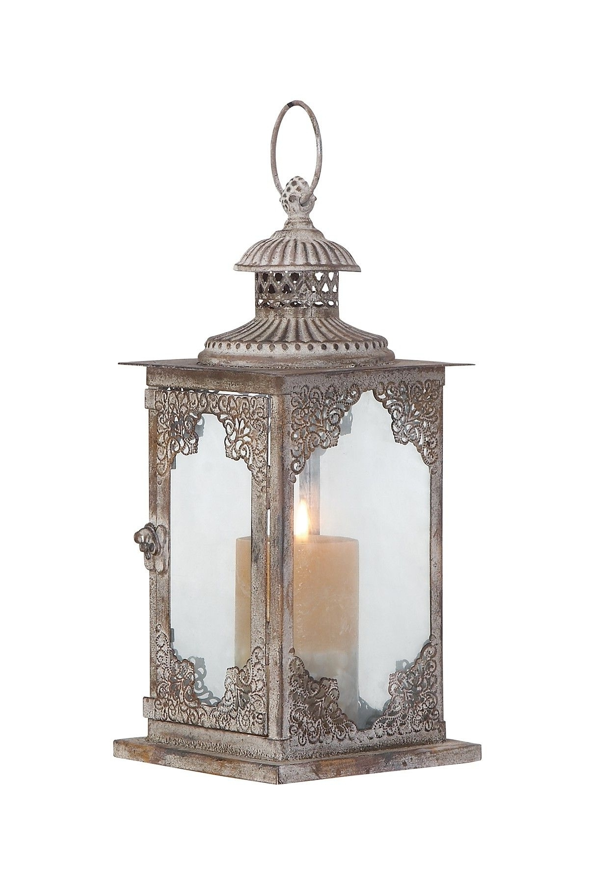 2018 Metal And Glass Lantern (View 20 of 20)