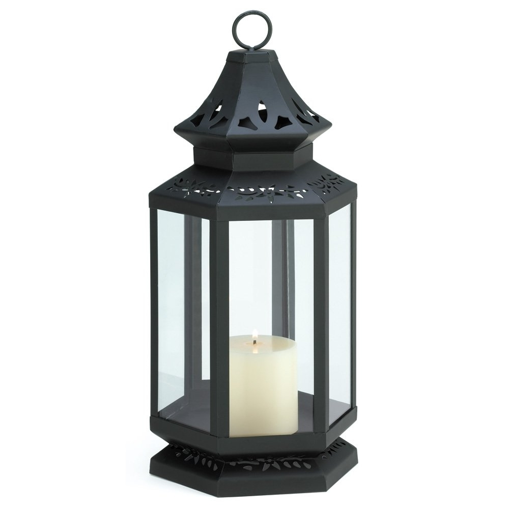 2018 Metal Outdoor Lanterns Inside Black Lantern Candle Holder, Stagecoach Large Candle Lanterns Metal (View 2 of 20)