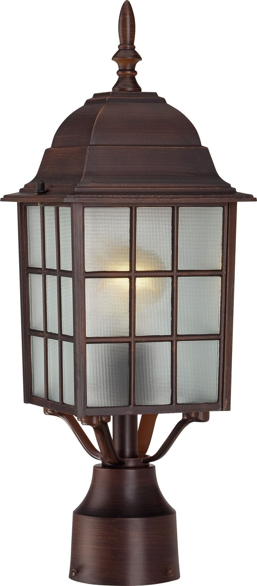 "2018 Outdoor Lamp Lanterns Throughout 17"" Outdoor Lamp Post Lights In Rustic Bronze Finish (View 11 of 20)"