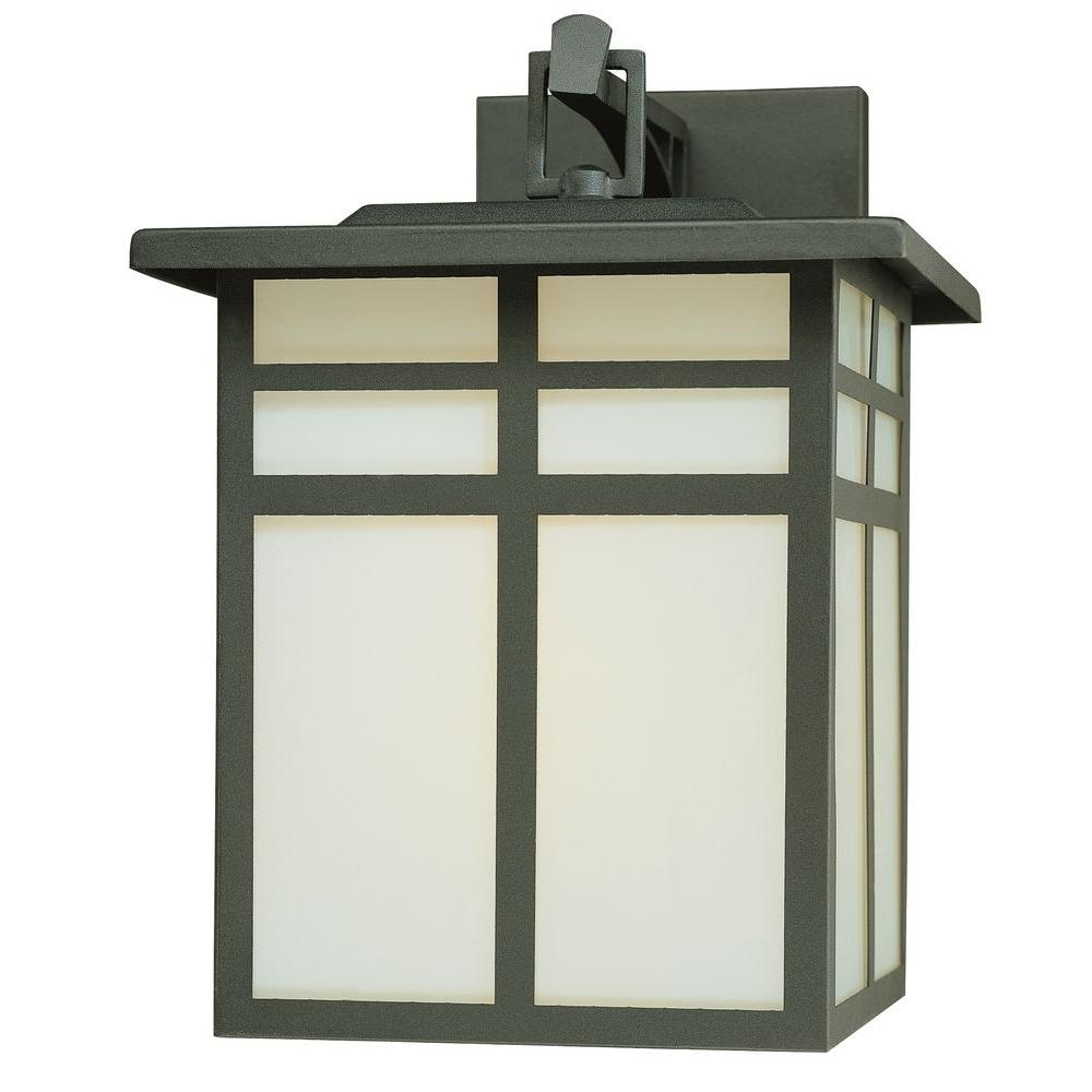 2018 Outdoor Lamp Lanterns With Regard To Thomas Lighting Mission 1 Light Black Outdoor Wall Mount Lantern (View 2 of 20)