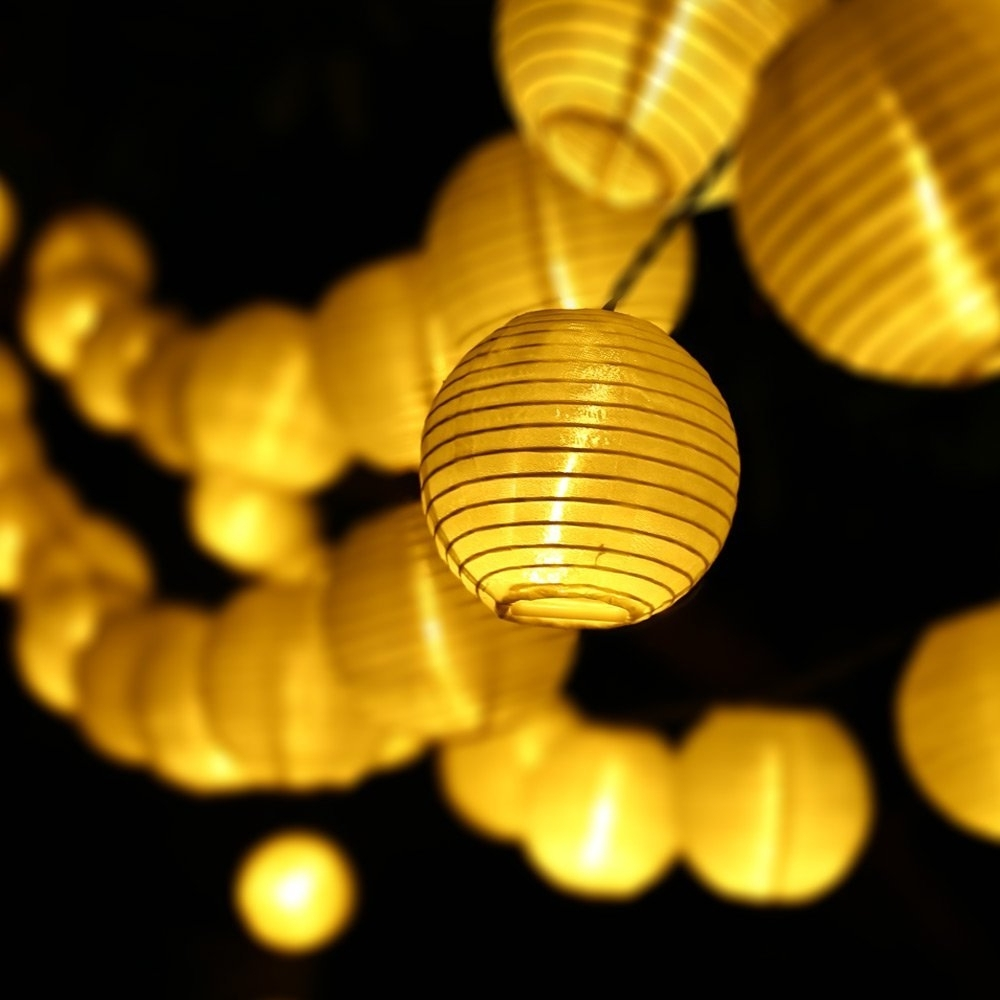 2018 Outdoor Lanterns On String In 6m 30 Led Outdoor Lighting Lantern Ball Solar String Lights Fairy (View 17 of 20)