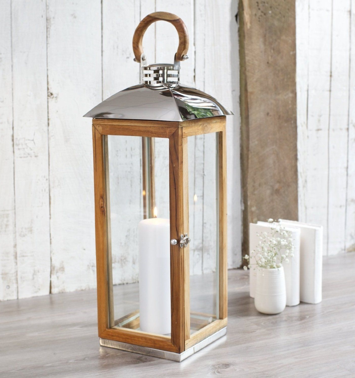 2018 Outdoor Teak Lanterns Pertaining To Hope Cove – Candle Lantern Extra Tall – High Quality Teak Wood (View 18 of 20)