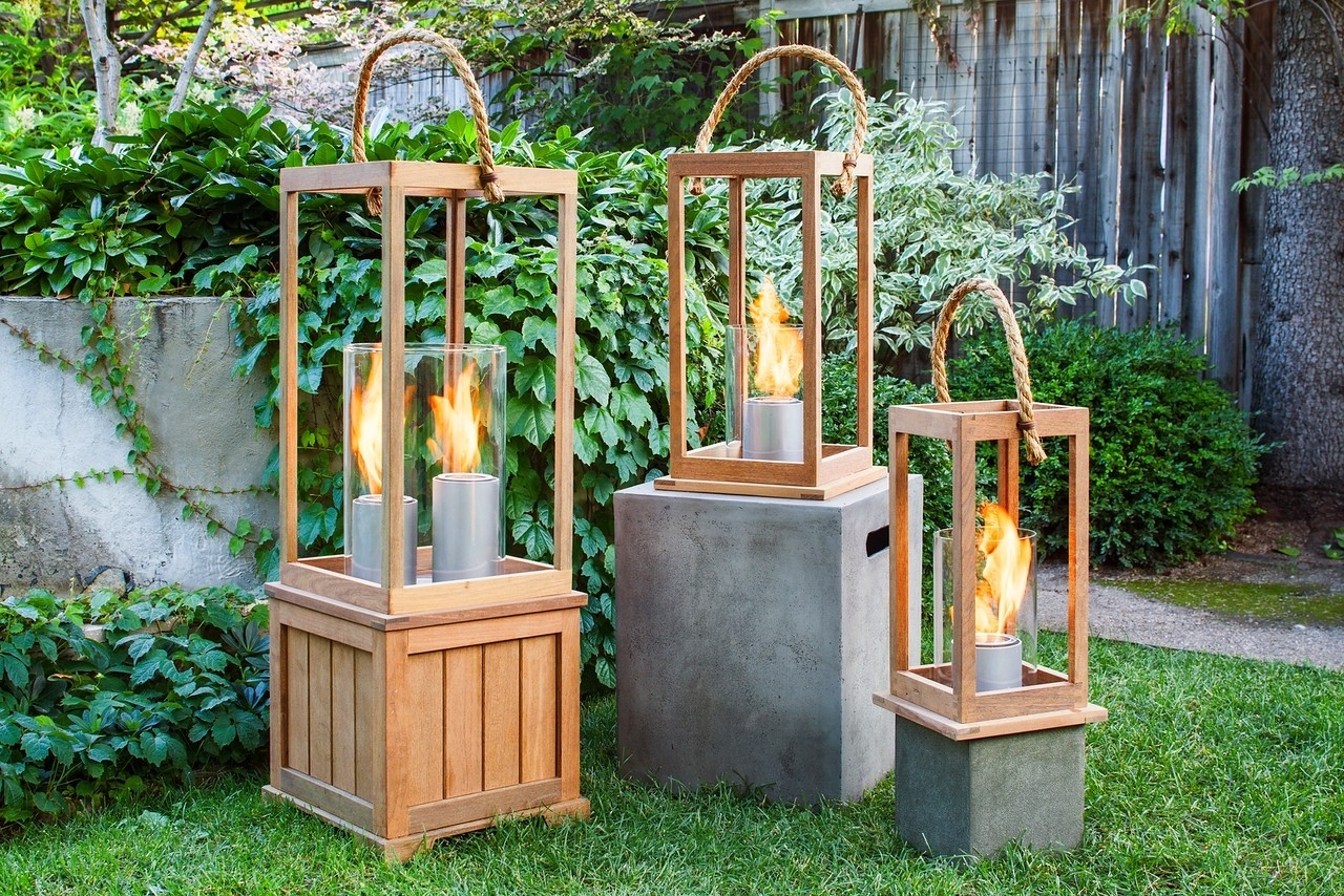 2018 Outdoor Wood Lanterns Inside Sonoma 17 Inch Outdoor Lantern In Ipe Woodnorthcape Fire (View 9 of 20)