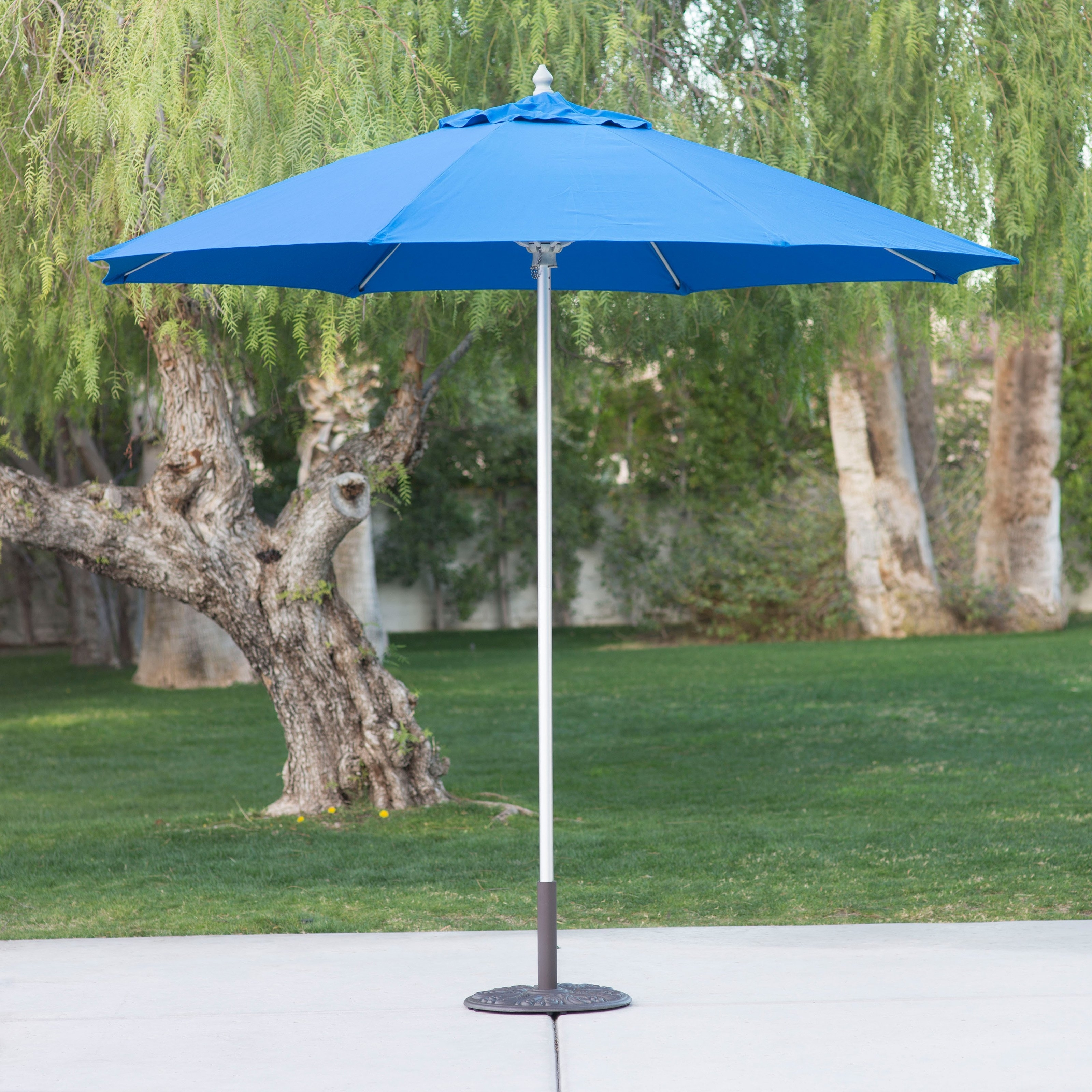 2018 Patio Umbrellas For Windy Locations With Regard To Belham Living 9 Ft. Sunbrella Commercial Aluminum Wind Resistant (Gallery 13 of 20)