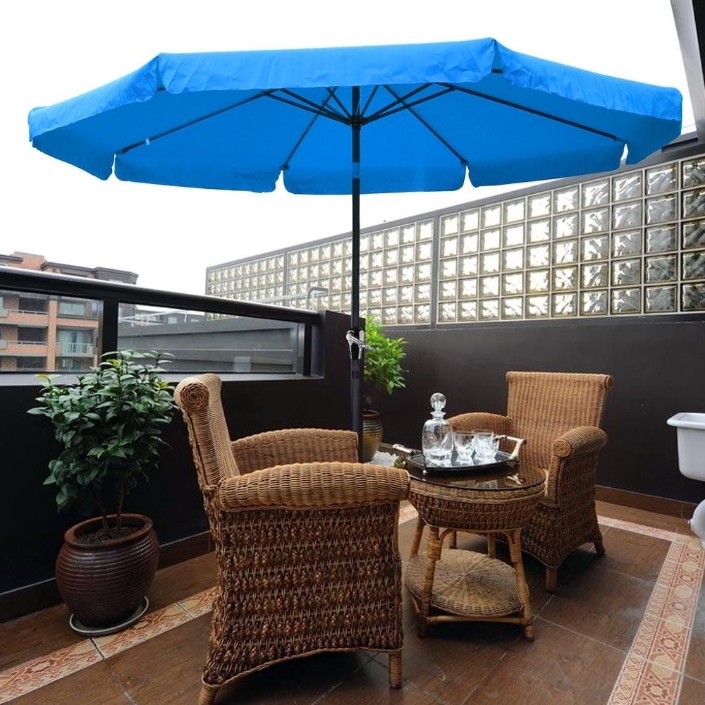 2018 Patio Umbrellas With Valance Inside 10ft Aluminum Outdoor Patio Umbrella W/valance Crank Tilt Sunshade (View 9 of 20)