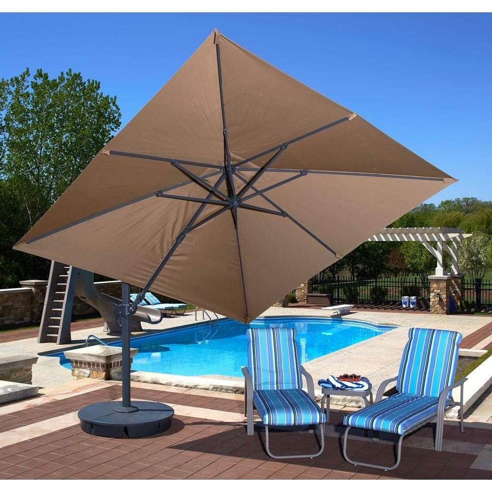 2018 Square Sunbrella Patio Umbrellas In Cantilever Patio Umbrella Sunbrella (View 3 of 20)