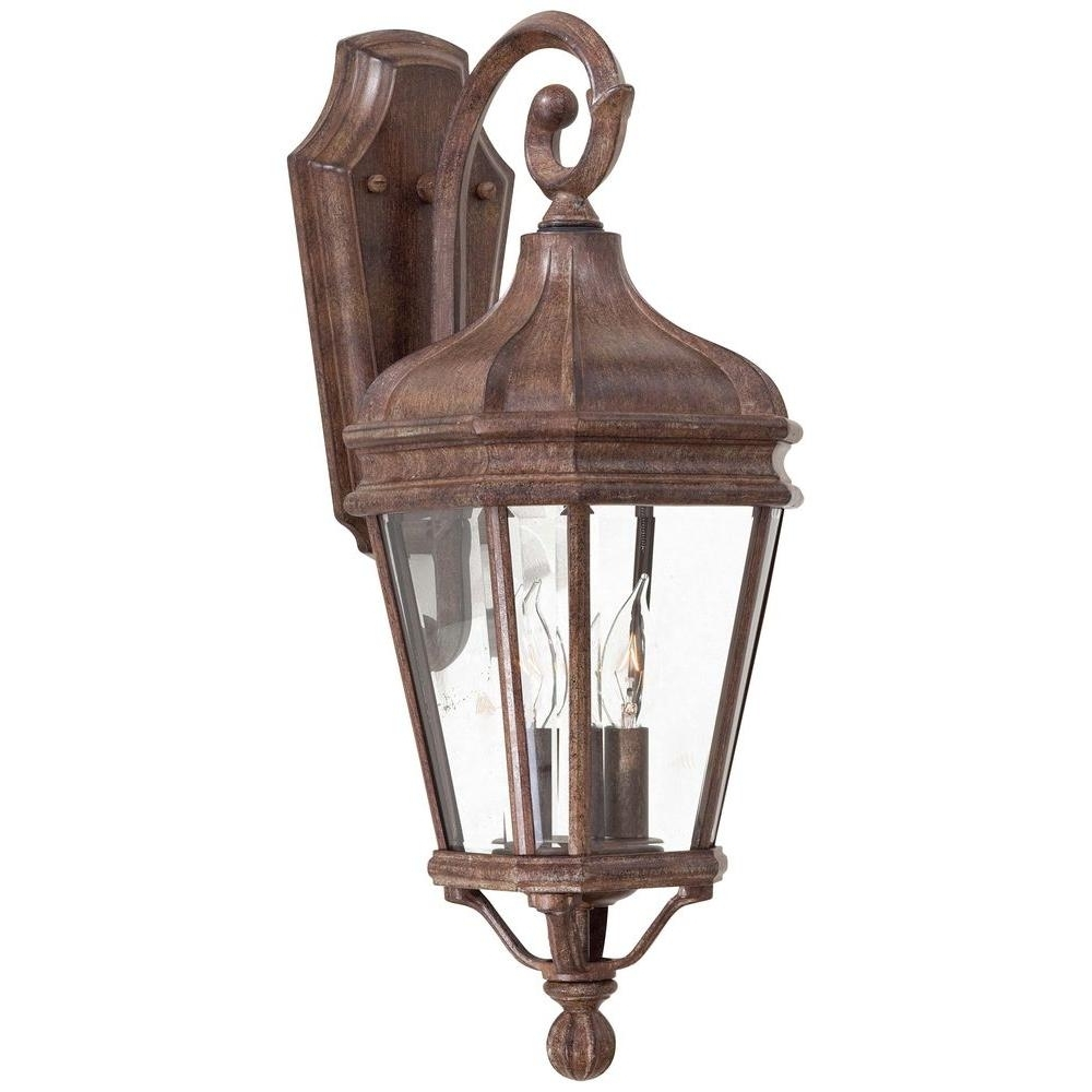 2018 The Great Outdoorsminka Lavery Harrison 2 Light Vintage Rust With Regard To Vintage Outdoor Lanterns (Gallery 1 of 20)