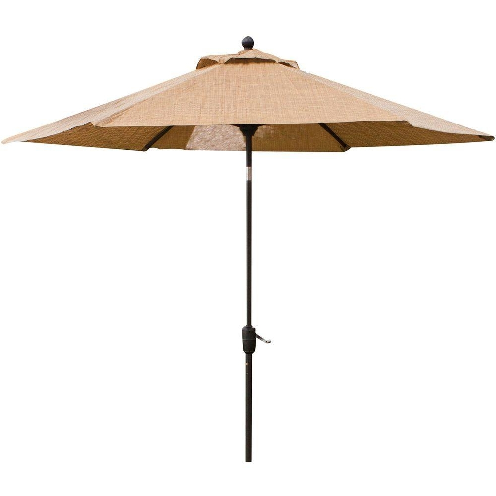 2018 Vinyl Patio Umbrellas With Hanover Monaco 9 Ft (View 1 of 20)