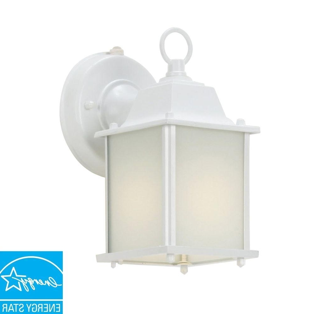 2018 Wall Mount Lantern Outdoor Cube Light Patio Porch Dusk To Dawn Within Outdoor Lanterns With Photocell (View 2 of 20)