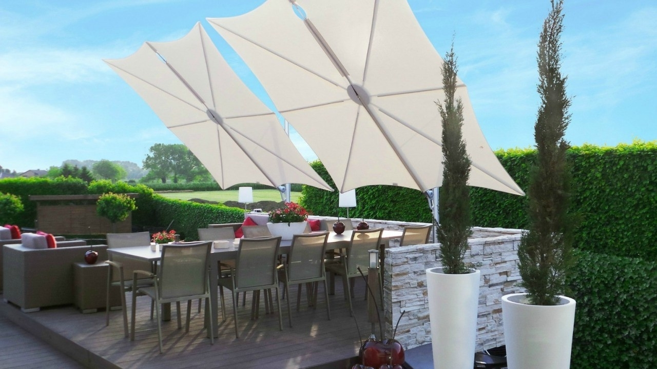 2018 Wind Resistant Patio Umbrellas Within Wind Resistant Patio Umbrella Australia (View 1 of 20)