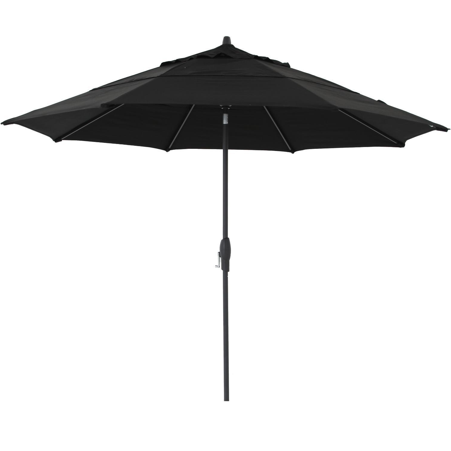 2019 11 Foot Patio Umbrellas Intended For Treasure Garden 11 Ft. Octagonal Aluminum Auto Tilt Patio Umbrella W (Gallery 19 of 20)