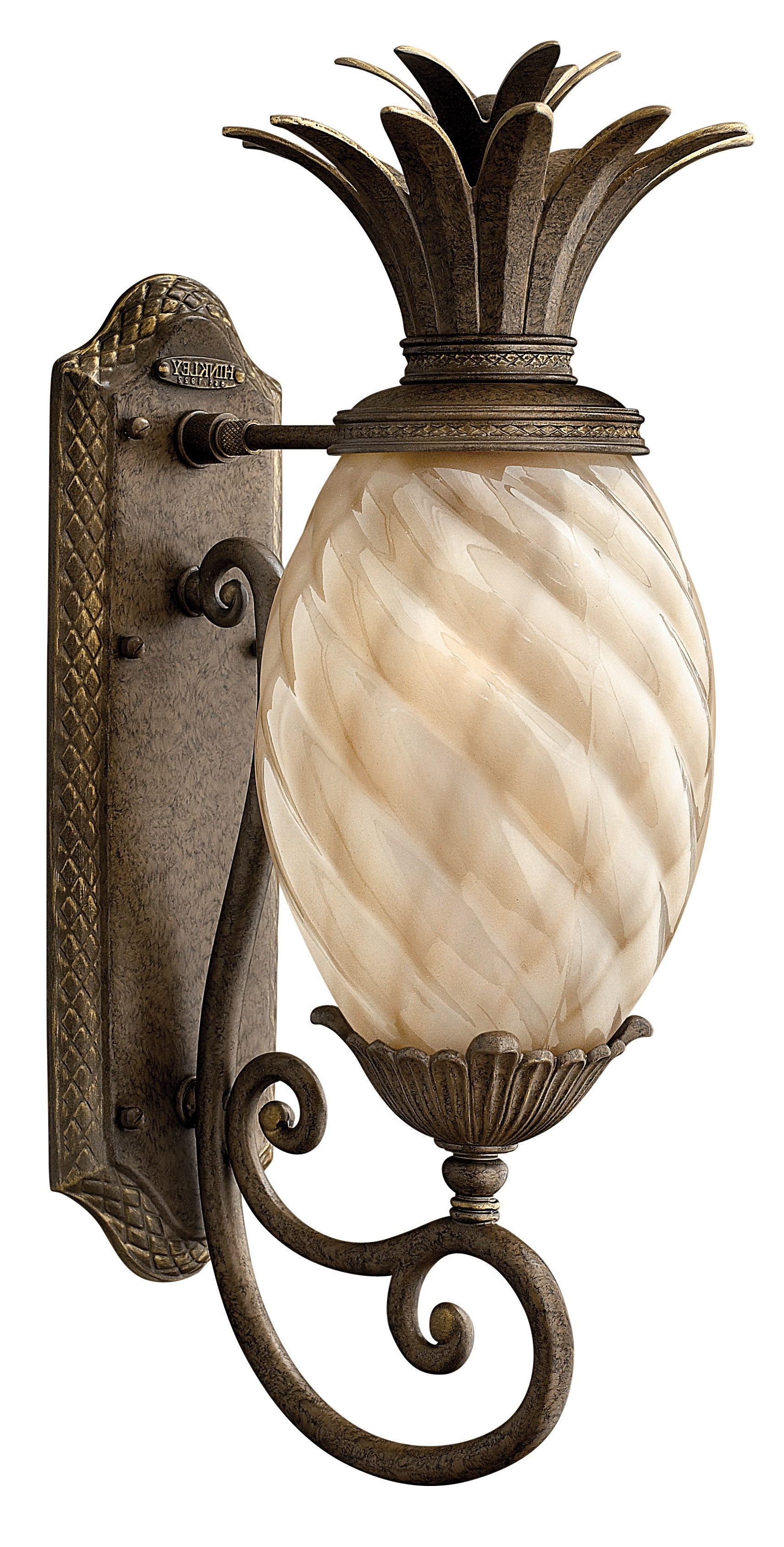 2019 Beachcrest Home Terry Traditional 1 Light Outdoor Pineapple Shaped Throughout Outdoor Pineapple Lanterns (Gallery 17 of 20)