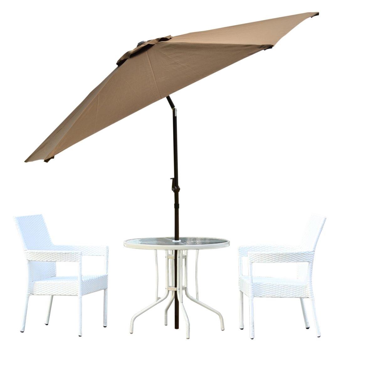 2019 Borealis Malta 9 Foot Coffee Patio Umbrella With Vented Top Tilt With Vented Patio Umbrellas (View 13 of 20)