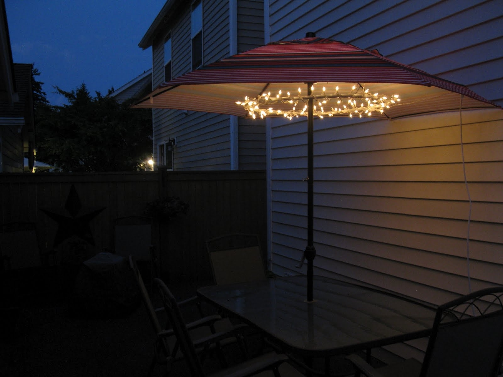 2019 Great Patio Umbrellas With Lights Patio Umbrella Lights For The Pertaining To Outdoor Umbrella Lanterns (View 5 of 20)