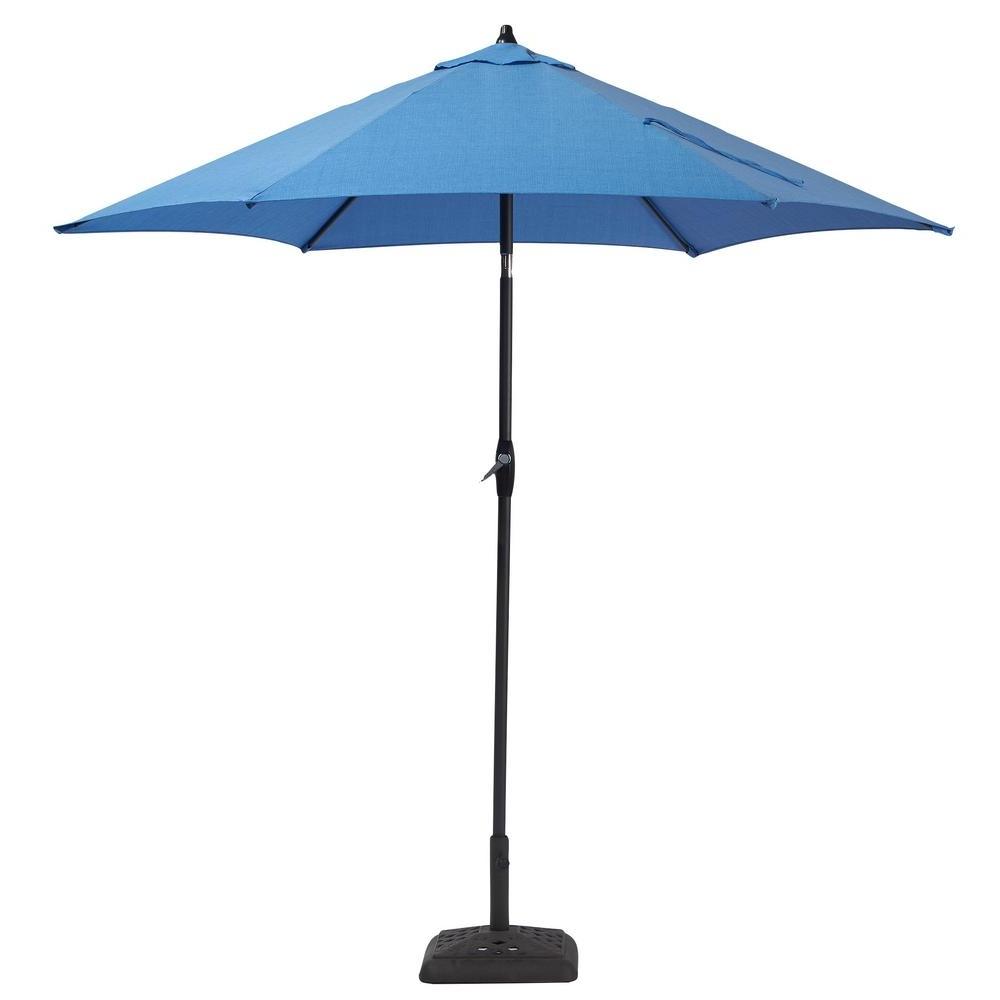 2019 Home Depot Patio Umbrellas Regarding Hampton Bay 9 Ft (View 13 of 20)