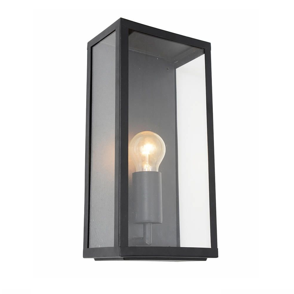 2019 Industrial Outdoor Lanterns Regarding Wall Light – Outdoor Black Mersey Lantern Wall Light (Gallery 4 of 20)