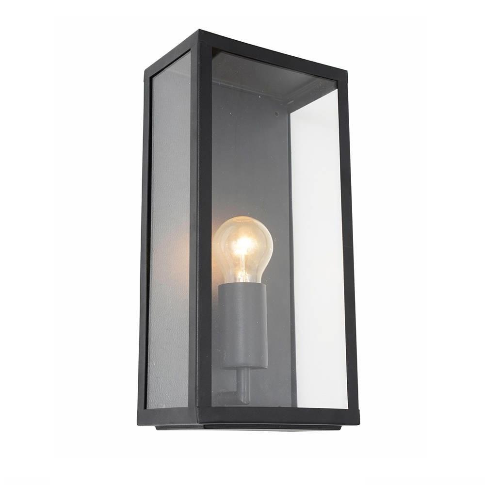 2019 Industrial Outdoor Lanterns Regarding Wall Light – Outdoor Black Mersey Lantern Wall Light (View 4 of 20)
